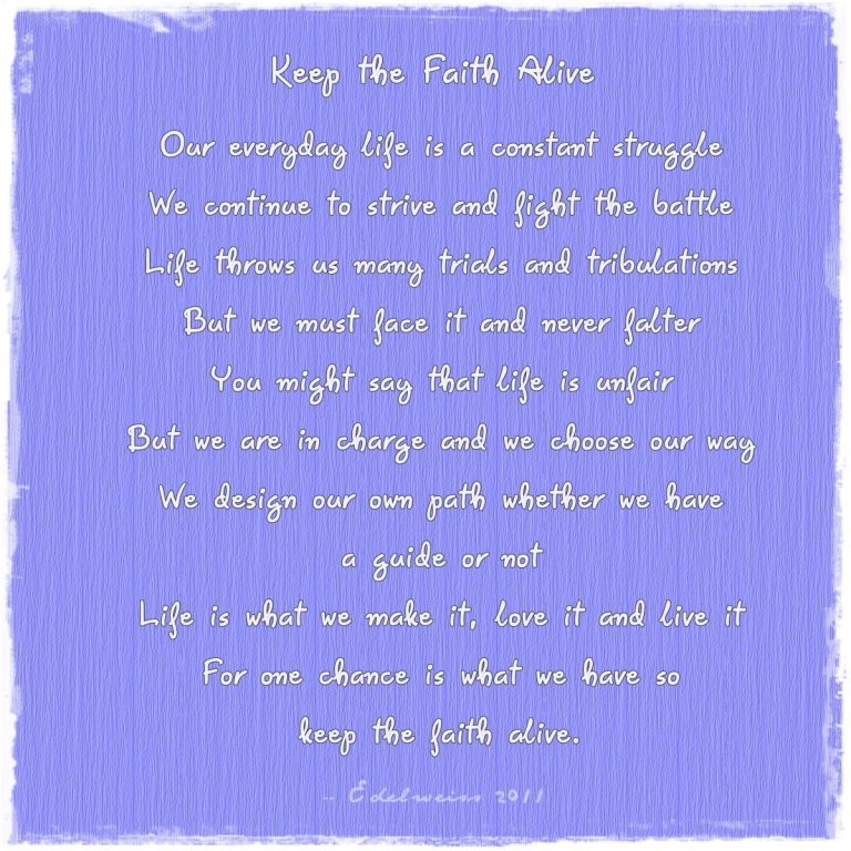 Keep the Faith Alive