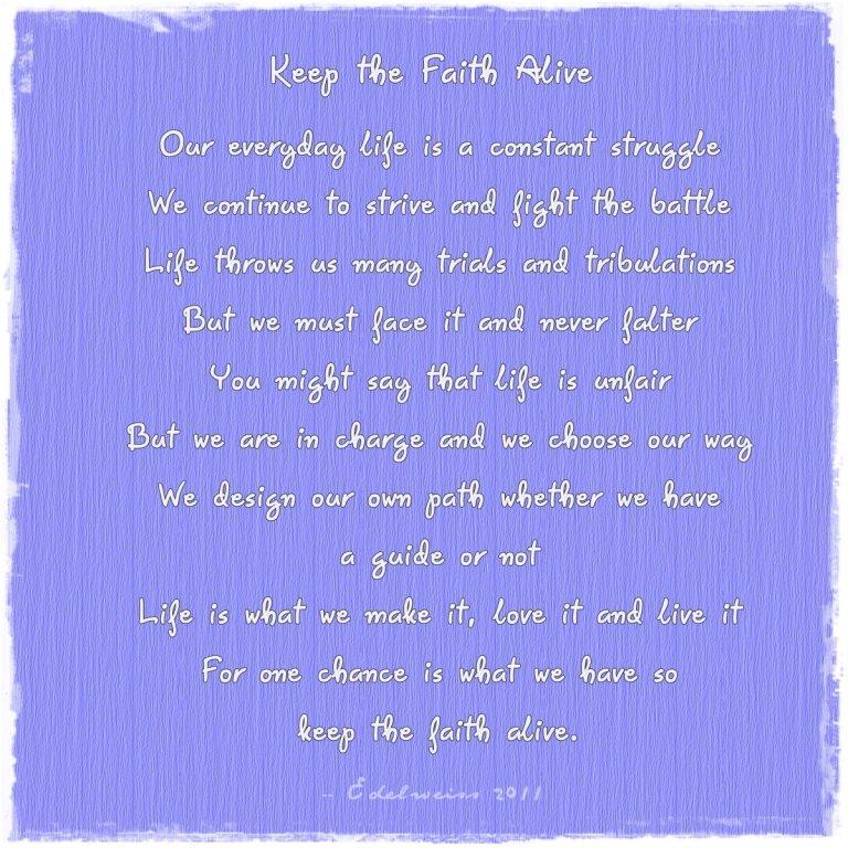 Keep the Faith Alive