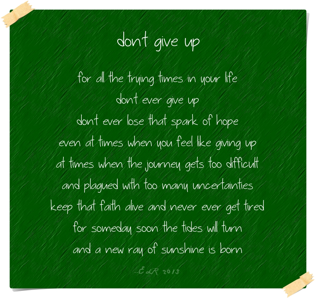 7. Dont give up on her