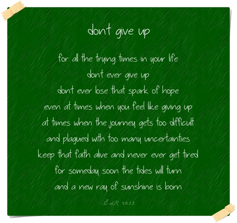 Poem Dont Give Up Explore Adventure Discover