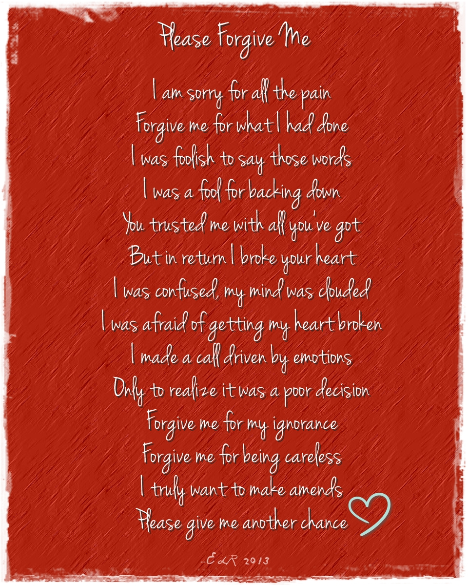 Forgiveness Poems 3