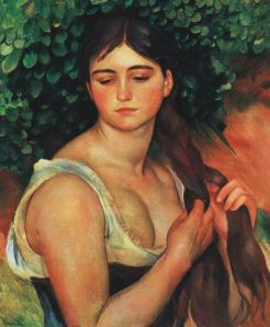 """The braid"" (1887) by Auguste Renoir Image courtesy of Wikipedia"