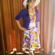 Purple 3/4 Sleeves Cropped Cardigan