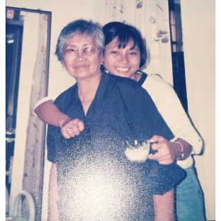 Birthday celebration with my grandma in 1994.