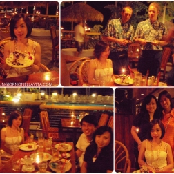 Our friend's birthday dinner at Duke's Waikiki.