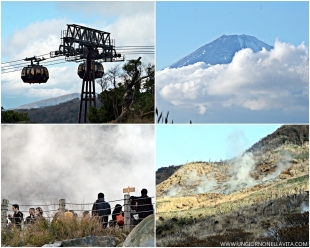 You can also get to Owakudani via Hakone Ropeway. Also in this photo is the view of Mt. Fuji from Owakudani. I'm glad I brought my 300mm lens that day! :)