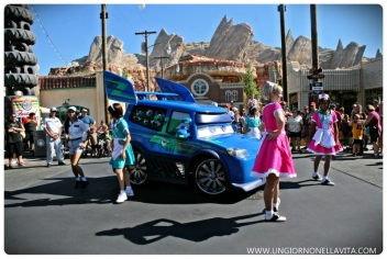 Dancing on the streets of Cars Land!