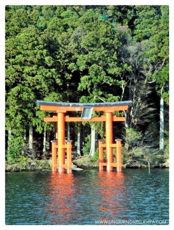 The Torii of Hakone Shrine at Lake Ashi