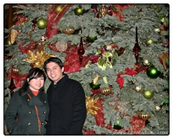 Gotta have a photo with the Christmas tree! :D