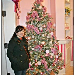 Posing with the girly tree! :D