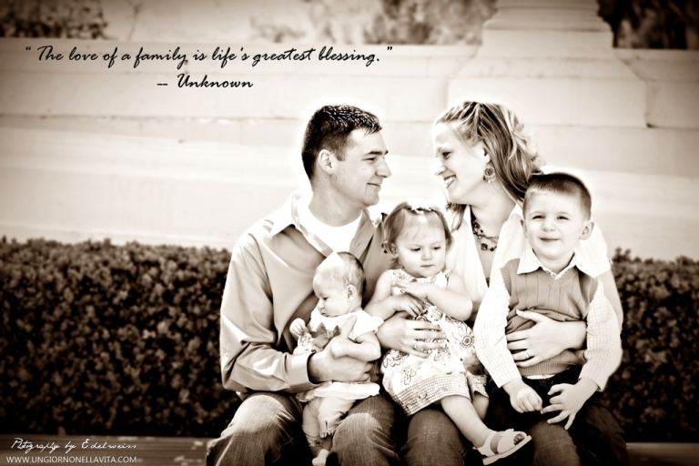 Another photo that I took 4 years ago. It was the very first family photo shoot that I did.