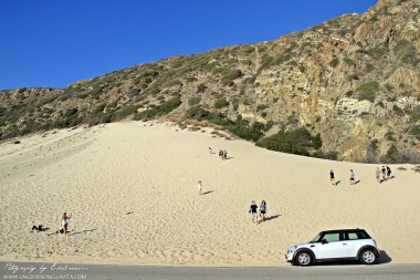 The Great Sand Dune in Malibu across Thornhill Broome Beach State Park.