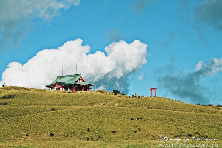 Hakone Motomiya Shrine atop Mt. Komagatake