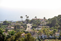 The view of the Pacific Ocean from Pepperdine University in Malibu.