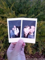 Photo in a photo with my better half! <3