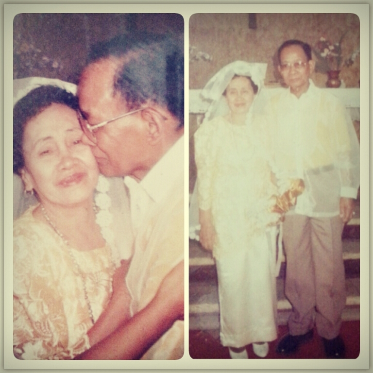 My grandparents when they renewed their vows on their 50th wedding anniversary.