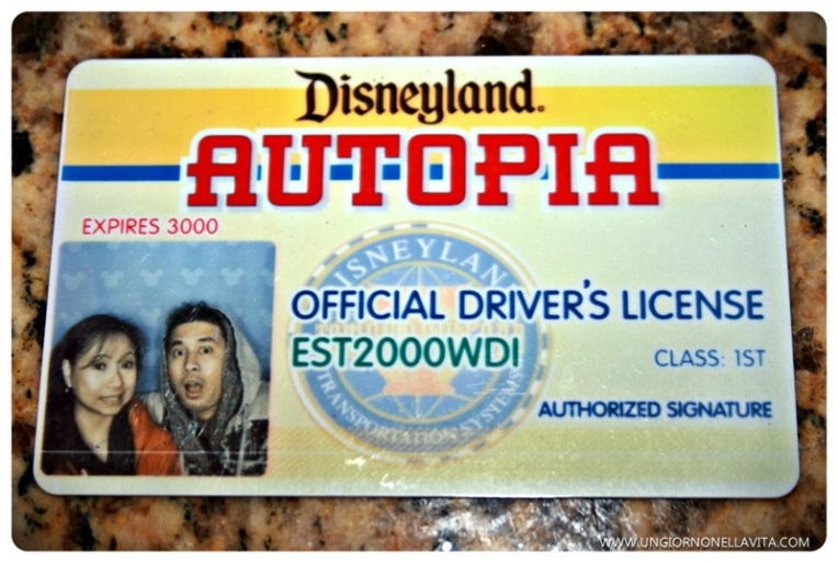 Confusing driver's license! Only at Autopia! :D