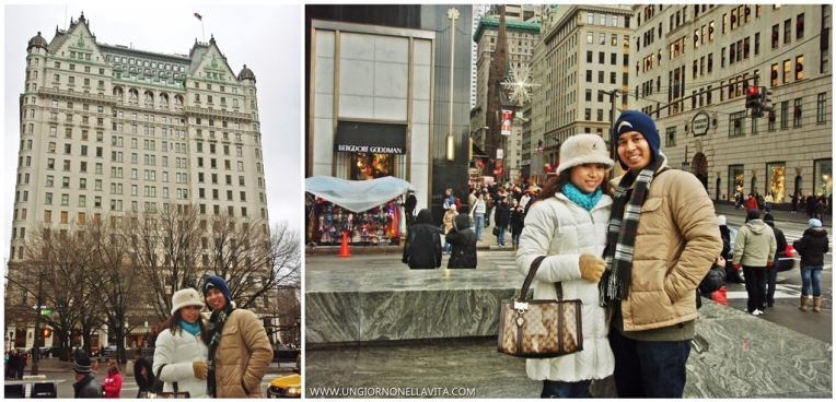 Bergdorf Goodman (R) and the famous Plaza Hotel featured in the movie Bridal Wars.