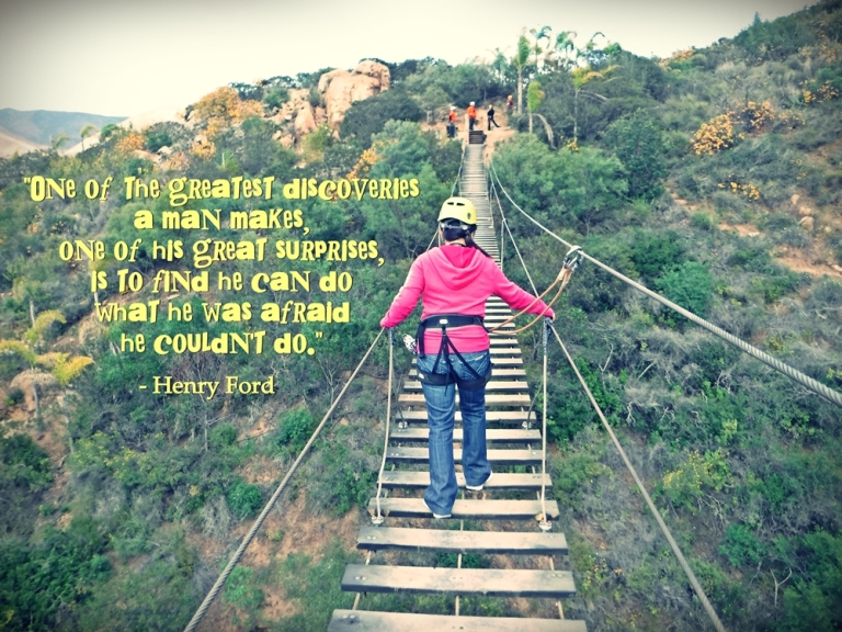 Yours truly at the last of the five hanging bridges! :)