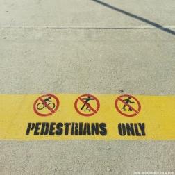 Walkway signs.